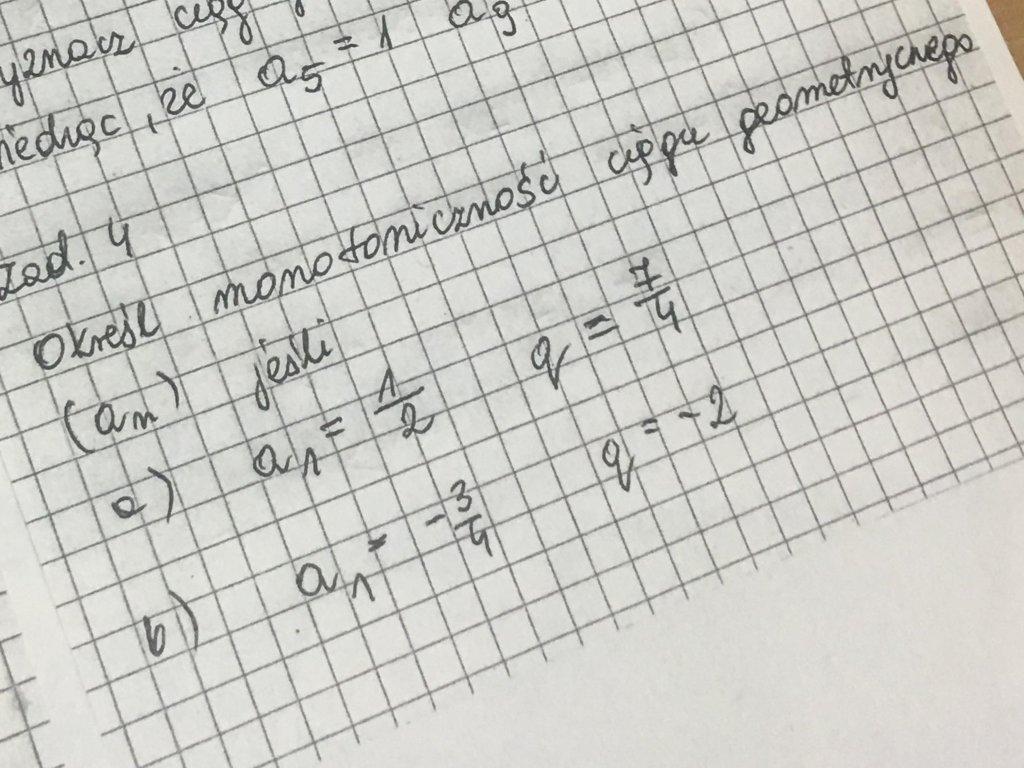 Ciągi geometryczne proszę!!! - załącznik 1