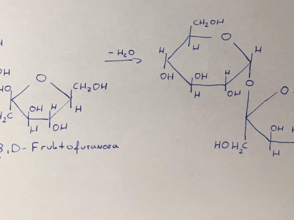 Witam, mam pytanie odnośnie powstawania sacharozy, po rozpisaniu poprawnych wzorów hawortha α,D - załącznik 1