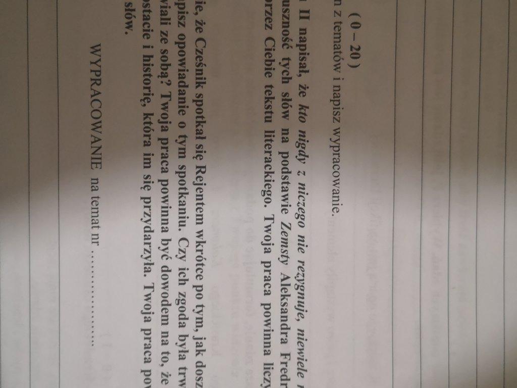 Na podstawie zemsty i innego tekstu literackiego(najlepiej lektury do klasy 8)potwierdź słowa że kt - załącznik 1