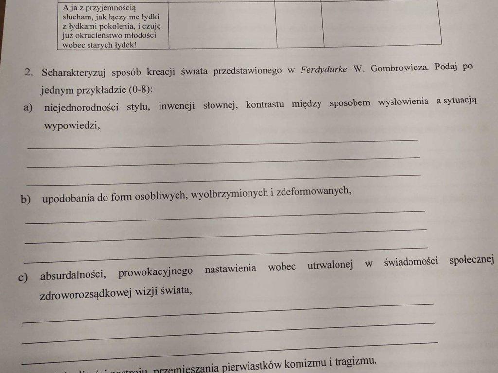 Potrzebuję odpowiedzi do tych dwóch tabelek na już to bardzo pilne  - załącznik 1