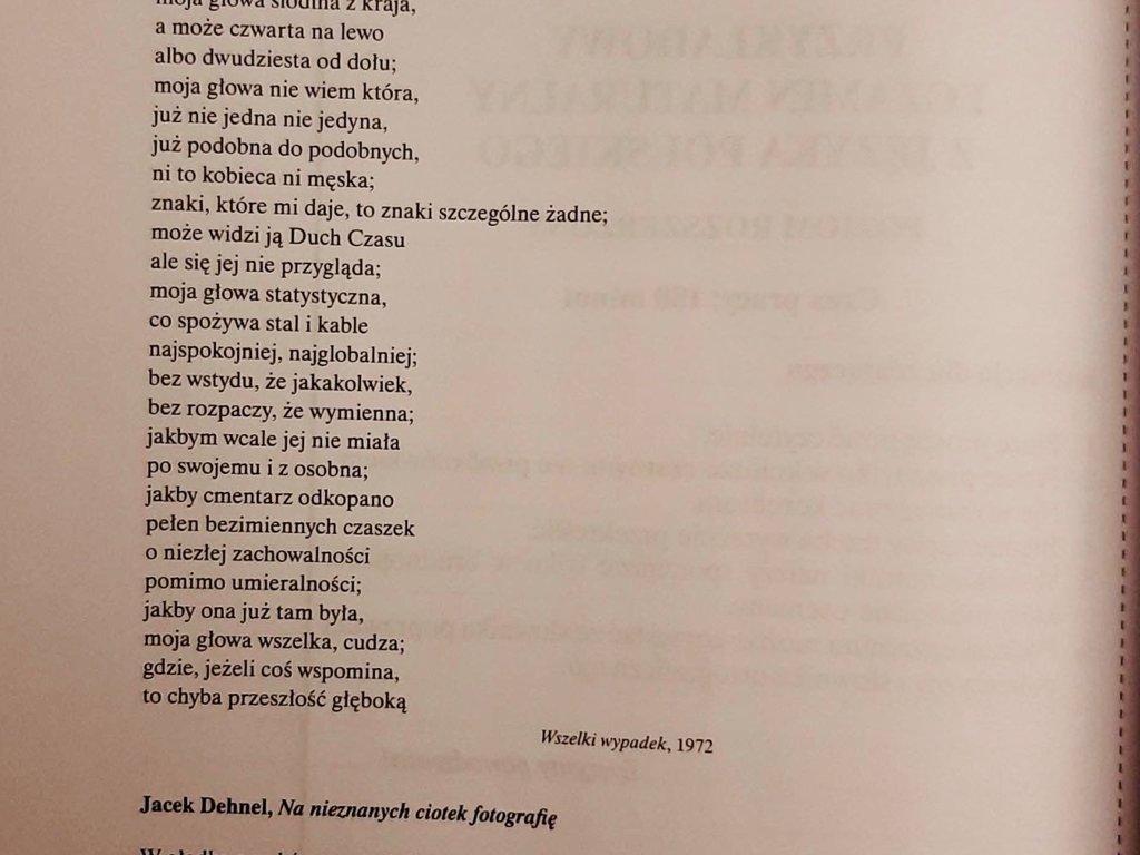 Interpretacja porównawcza Wisława Szymborska 'Fotografia tłum' i Jacek Dehnel 'Na nieznanych ciotek - załącznik 1