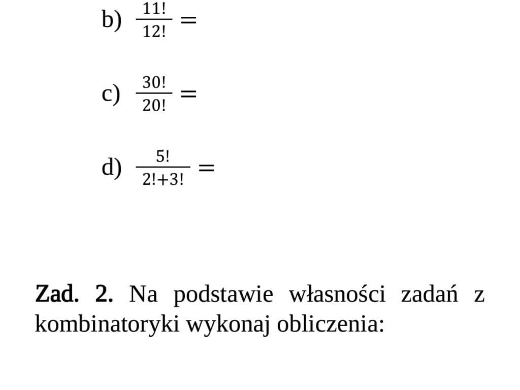Matematyka - załącznik 1