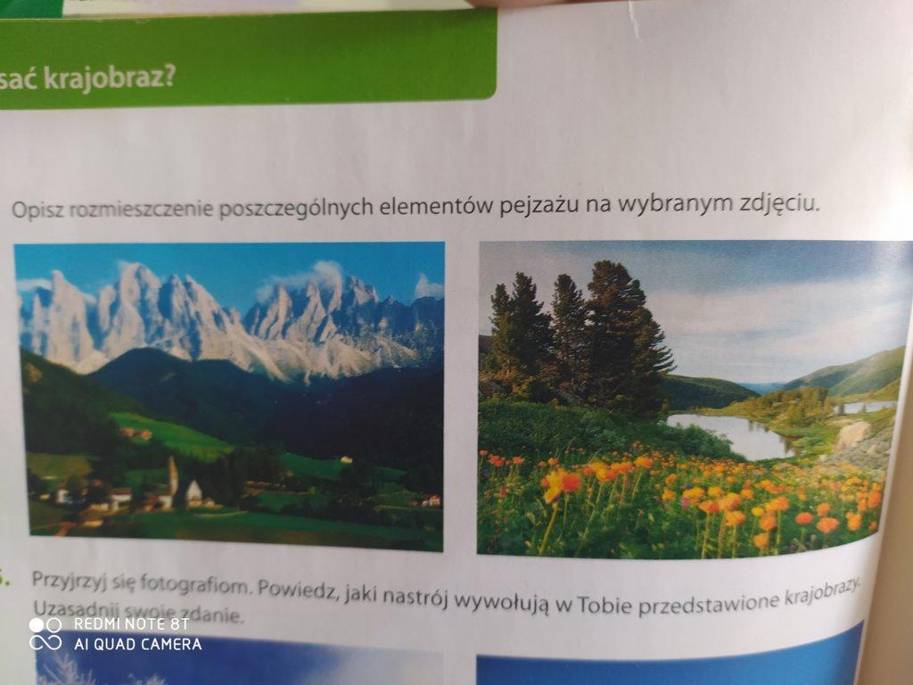 Opisz jeden z widocznych krajobrazów pilne - załącznik 1