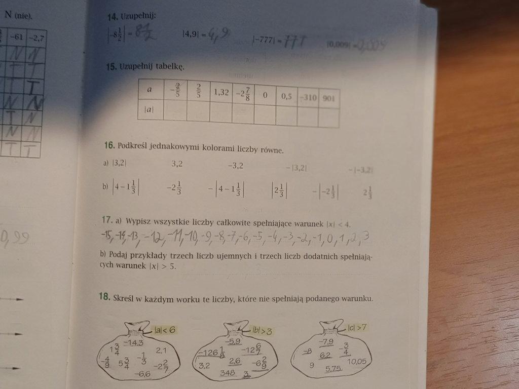 Proszę zadanie 15, 16 i 18. Treść w załączniku. - załącznik 1